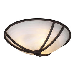 3 Light Ceiling Light Highland Collection Oil Rubbed Bronze Dimmable  Marbelized