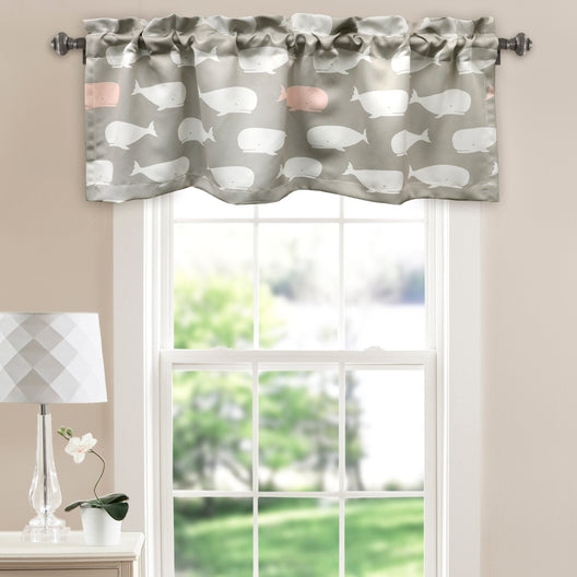 Whale Room Darkening Valance Pink Single 18x52 inch