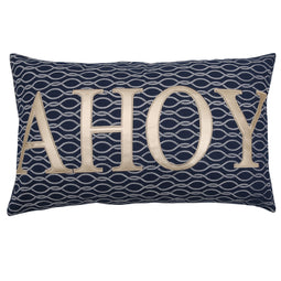 Ahoy Rope Knot Decorative Pillow Single Navy