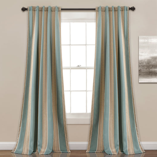 Julia Stripe Room Darkening Window Curtain