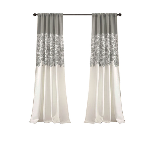 Estate Garden Print Room Darkening Window Curtain Set