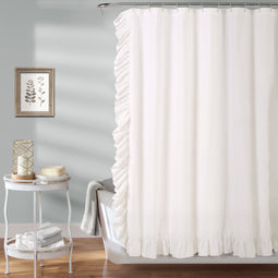 Reyna Shower Curtain White