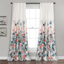 Zuri Flora Room Darkening Window Curtain Set