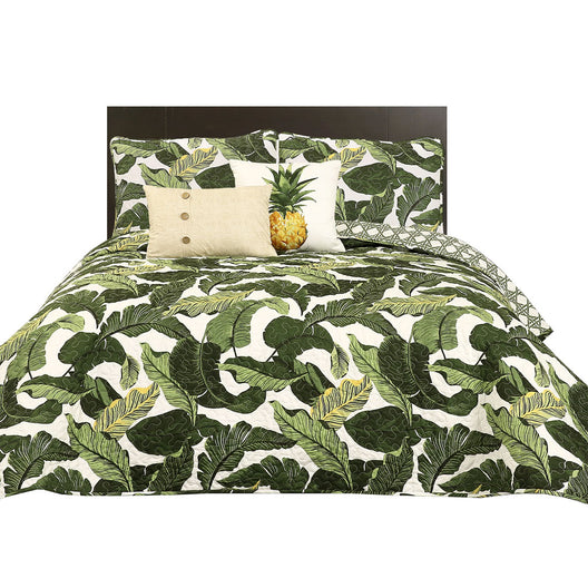 Tropical Paradise Quilt Green 5Pc Set