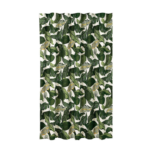 Tropical Paradise Shower Curtain Green