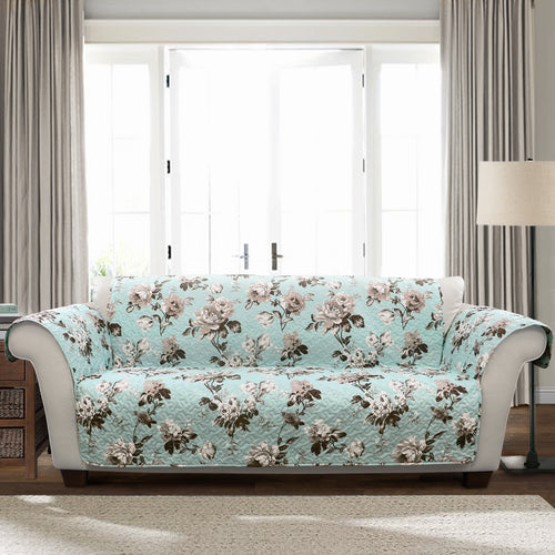 Tania Floral Furniture Protector Blue/Gray Single