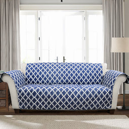 Wellow Ikat Furniture Protector Navy Single