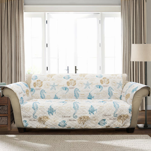 Harbor Life Furniture Protector Blue/Taupe Single