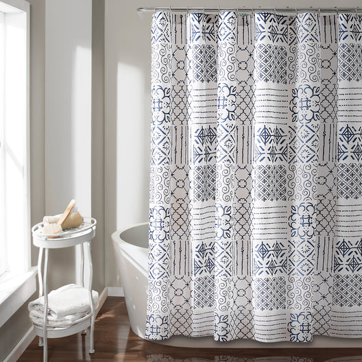 Monique Shower Curtain Blue