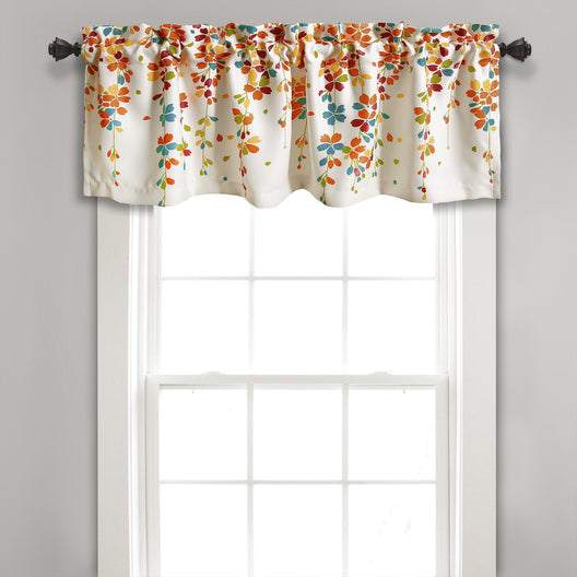 Weeping Flower Room Darkening Valance 18x54 Inch