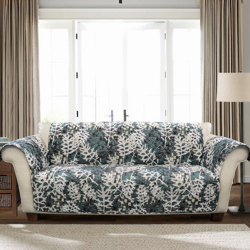 Camouflage Leaves Furniture Protector Green Single