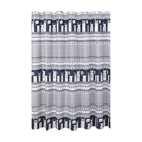 Llama Stripe Shower Curtain 72X72 Inch
