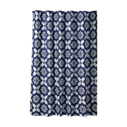 Venus Medallion Shower Curtain Navy