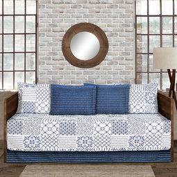 Monique Blue 6Pc Daybed Cover Set 39x75