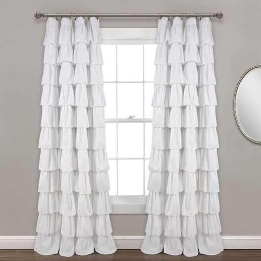 Ruffle Window Curtain Panel