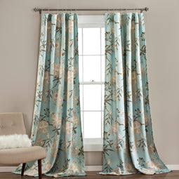 Botanical Garden Room Darkening Window Curtain Set