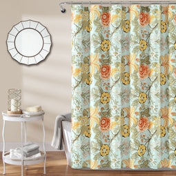 Sydney Shower Curtain Blue/Green Single