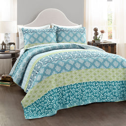 Bohemian Stripe Quilt 3Pc Set