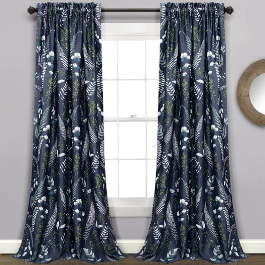 Devonia Allover Room Darkening Window Curtain Panels