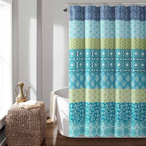 Bohemian Stripe Shower Curtain In Single