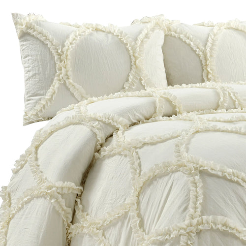 Riviera Comforter Ivory 3Pc Set King
