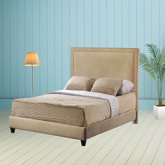 Brookside King Bed with Rails and Footboard in Brooke Pecan