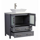 "Load image into Gallery viewer, 30"" Dark Grey Solid Wood Sink Vanity With Mirror 