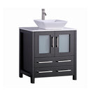 "Load image into Gallery viewer, 30"" Espresso Solid Wood Sink Vanity With Mirror 