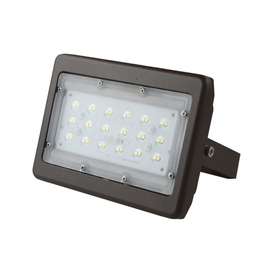 30W LED Flood Light - 100W Equivalent - Flood Mount - 3750 Lumens - 5700K Bronze Finish Exterior Security Lights