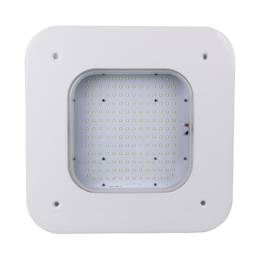 150W LED Ceiling Light Canopy - 5700K - Square - 17242 Lumens - DLC Qualified - Parking Garage Lighting