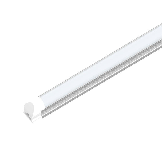 60W 8ft LED Tube Integrated Lights - 5000k; V-Shaped Frosted - 50,000 Life Hours - 5 Years Warranty