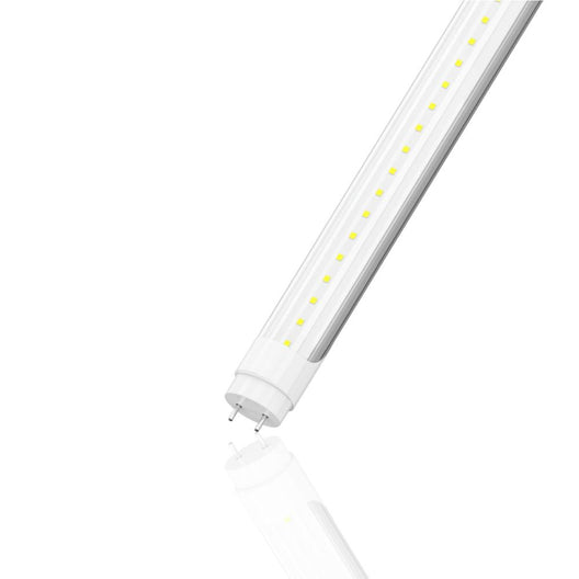 T8 4FT LED Tube 20W 5000K 3000 Lumens Clear, Ballast Compatible, DLC Listed (Check Compatibility List; Not Compatible with all ballasts)