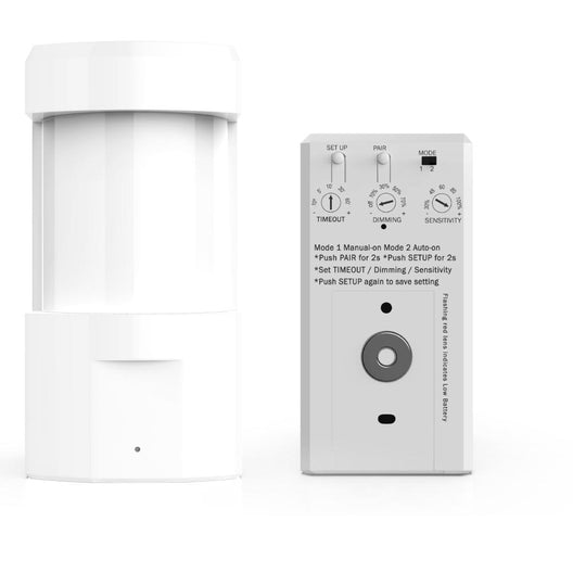 Wireless wall mount PIR Occuancy/Vcancy Sensor with switch Manually Turn on/off and Dim Command