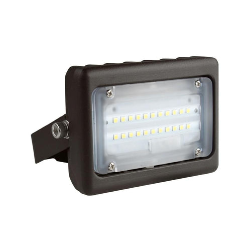 LED Flood Light 15W - Flood Mount - 1635 Lumens - Bronze - 5700K Exterior Security Lights - 5 Years Warranty