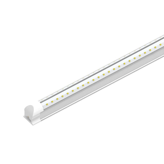 4ft V Shape LED T8 Tube Light 22W - Integrated 5000k Clear Cover - Fluorescent Fixture Replacement