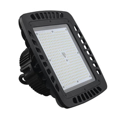 240W Square LED High Bay Lights - AC100-277V - 5700K - UFO Warehouse Lighting Fixture - Black