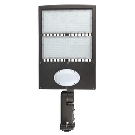 LED Pole Light 300W With Motion Sensor & Photocell, 5700K, UM, Bronze, Dusk to Dawn Capable - Parking Lot Lights