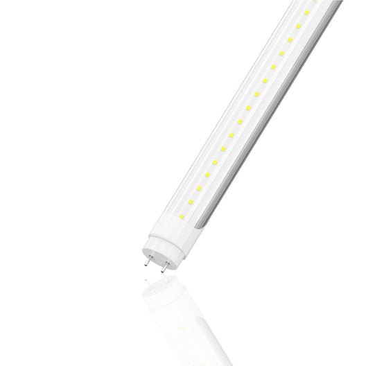 T8 2ft LED Tube Light, 8W 5000K Ballast Compatible, Clear (Check Compatibility List; Not Compatible with all ballasts)