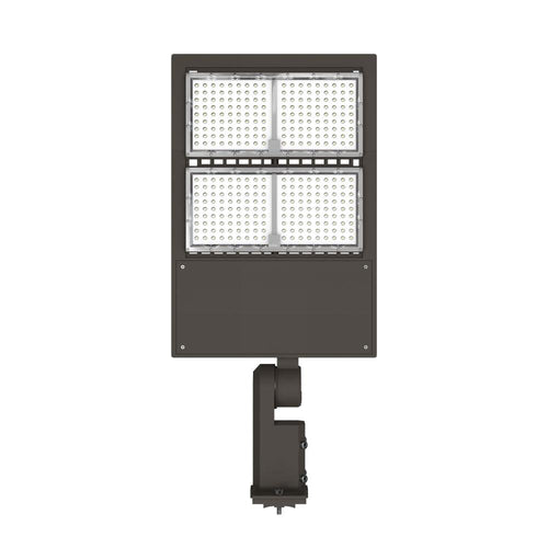 LED Pole Light 240 Watts - Bronze - 5700K - Dimmable - Universal Mount - AC 100-277V - DLC Listed - Shoebox Area Light
