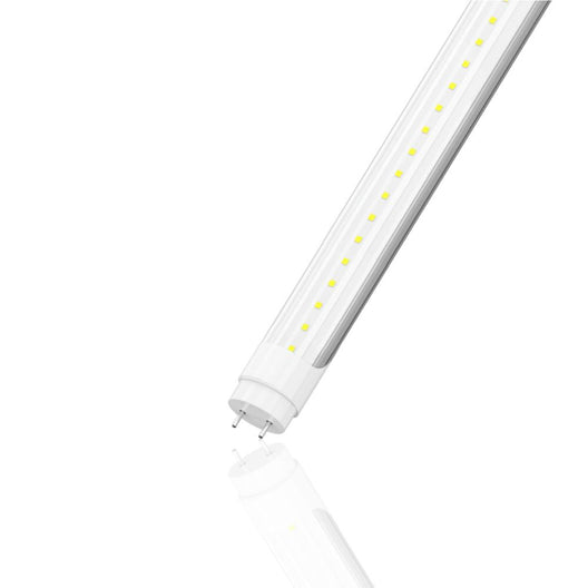 T8 4ft LED Tube Light Fixture 22W 6500K Clear 3000 Lumens Single Ended Power, G13 Type