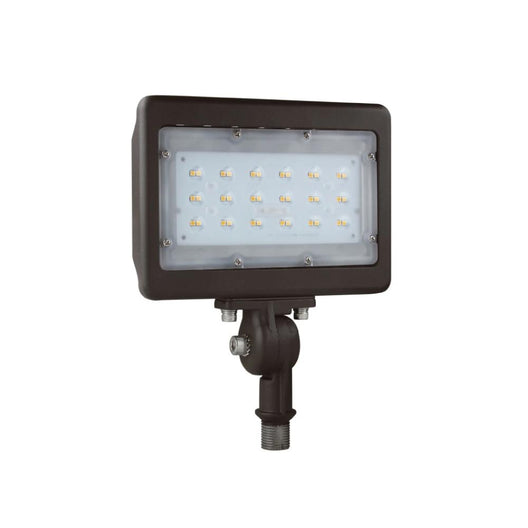 30W LED Flood Light - 150W Equivalent - Knuckle Mount - 3750 Lumens - 5700K Bronze Exterior Security Lights