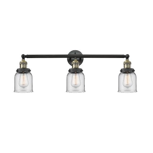"30"" Small Bell LED Wall Light - Adjustable Bathroom Fixture - 3 Light - 100W, 2700K - A19 Bulb"