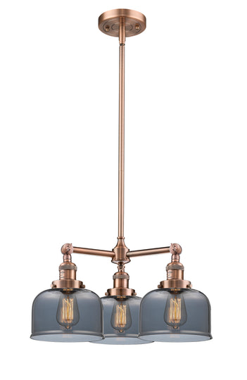 Large Bell 22-Inch  Chandelier with Hang Straight Swivel