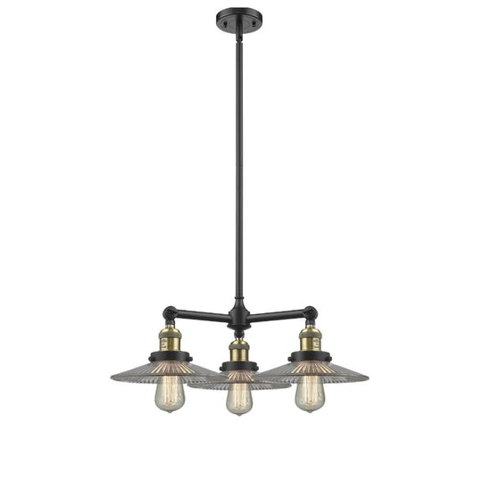 Halophane  24-Inch Chandelier with Halophane glass and Hang Straight Swivel