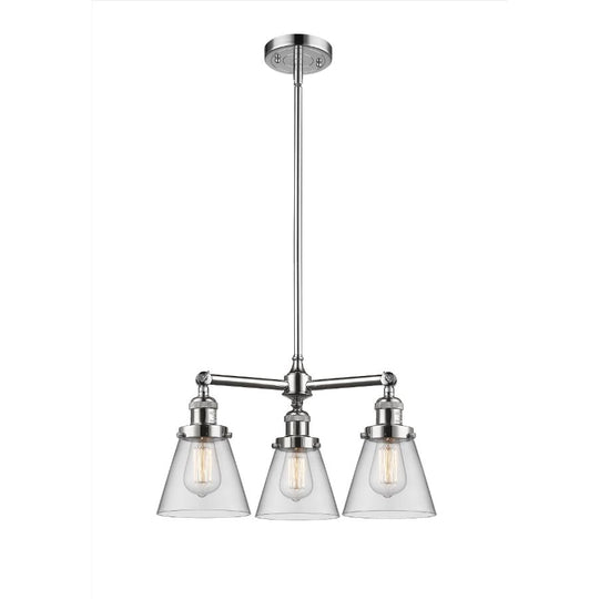 Small Cone 19-Inch Chandelier Hang Straight Swivel