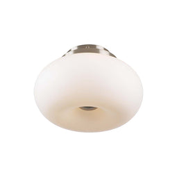 3 Light Ceiling Light Tessera Collection, Satin Nickel Dimmable Matte Opal