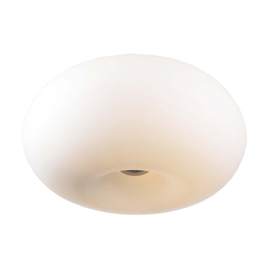 4 Light Ceiling Light Tessera Collection, Satin Nickel Dimmable  Matte Opal