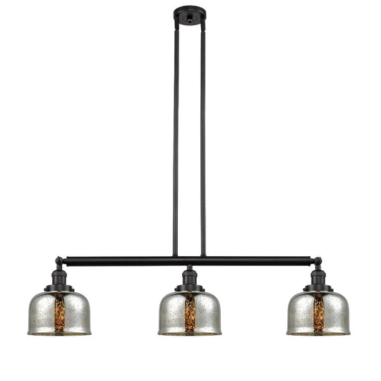 "40"" Industrial Large Bell Chrome Pendant W/ Adjustable Island & Hang Straight Swivel - 319 Lm - UL/ETL Listed"
