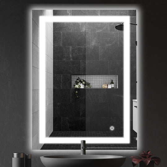 Backlit LED Lighted Mirror with Touch Switch Control - Accord Style Vanity Mirror