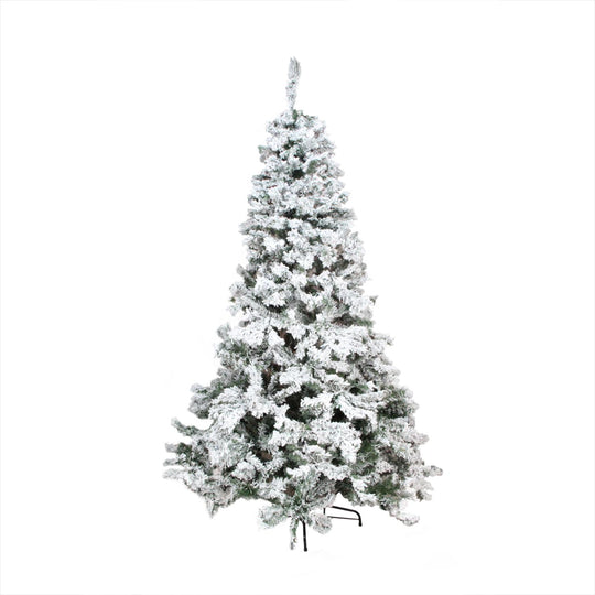 7.5' Heavily Flocked Pine Medium Artificial Christmas Tree - Unlit